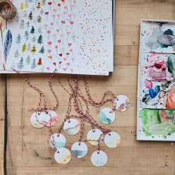 Paper-Punched Gift Tags: 12/8/16