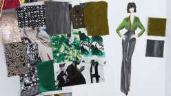 Fashion Illustration with Mood Fabrics