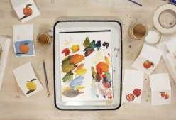 Oil Painted Place Cards: 11/15/18
