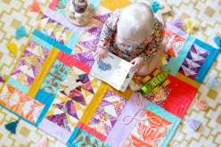 Flying Gosling Baby Quilt