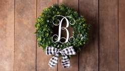 Glowforge Projects: Monogrammed Wreath