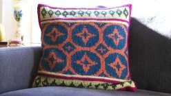 Steeked Fair Isle Pillow