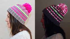 Knit a Reflective Hat