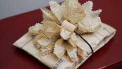 Wrapping Gifts with Sewing Tissue Paper