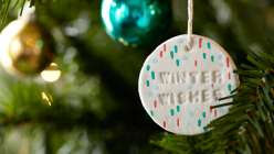 Make Paper Clay Christmas Ornaments