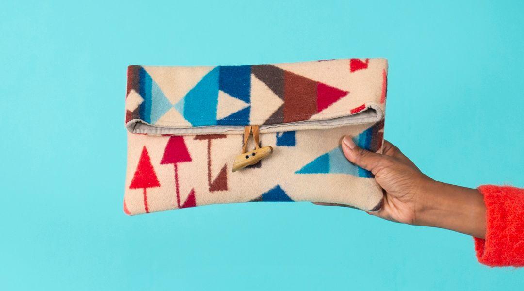 Sew a Pendleton Clutch