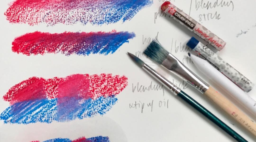 Oil Pastel Exploration: 1/3/17