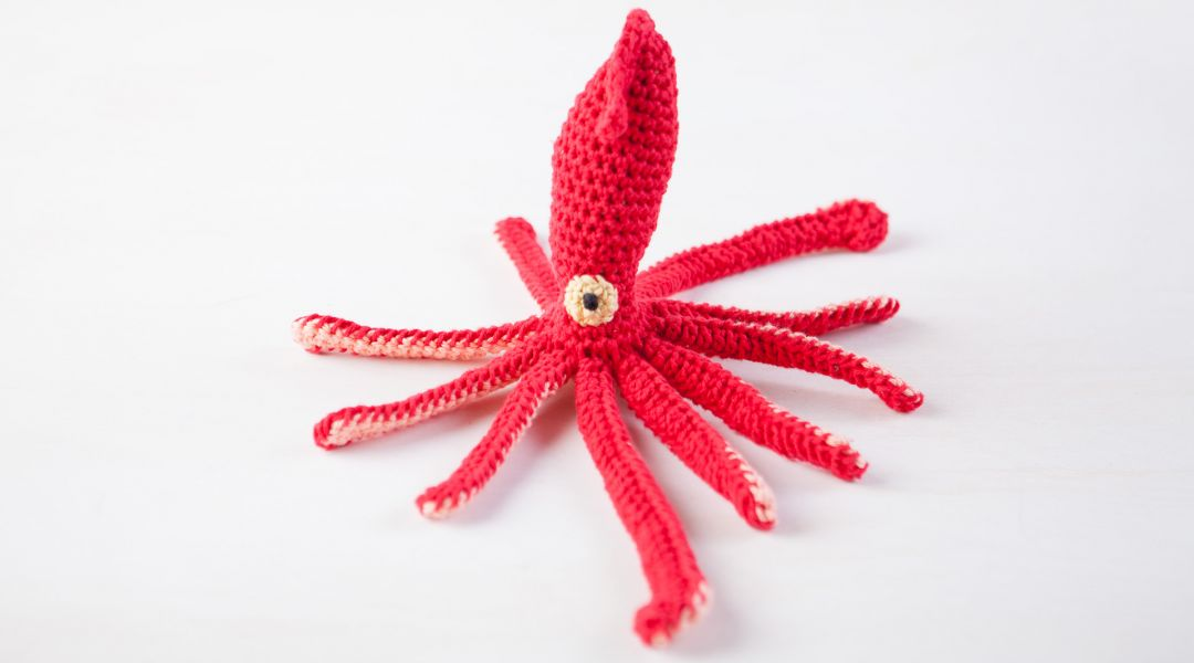Crocheted Squid
