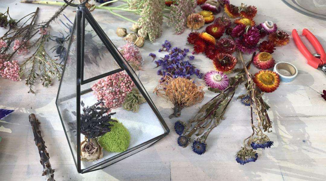 Dried Flower Terrarium: 9/14/17