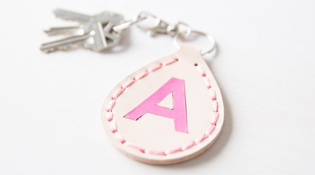 Cricut Crafts: Monogrammed Leather Keychain