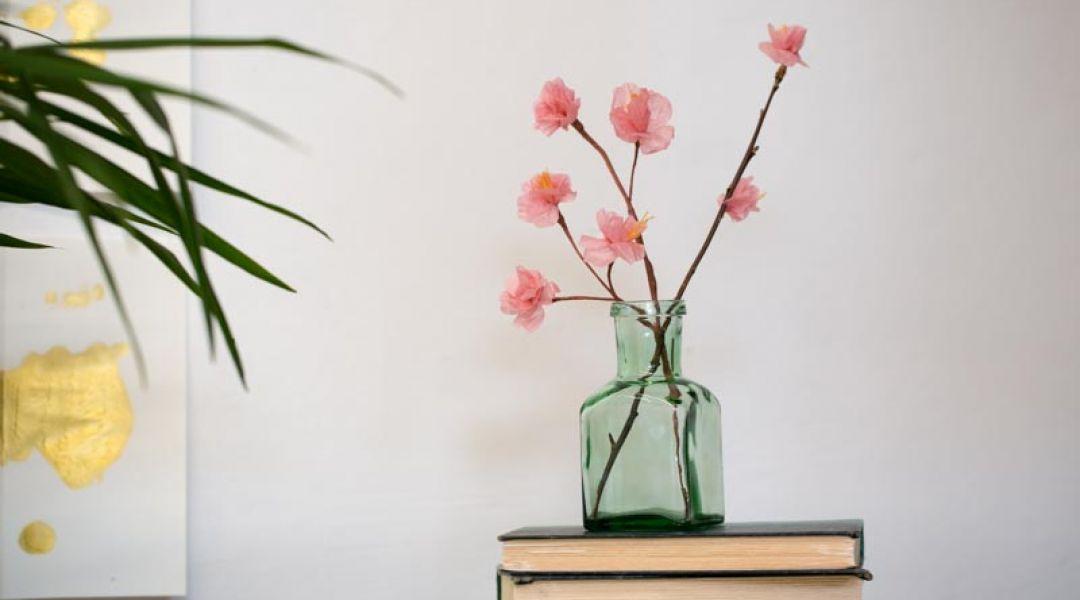 Paper Cherry Blossom Branch: 4/26/18