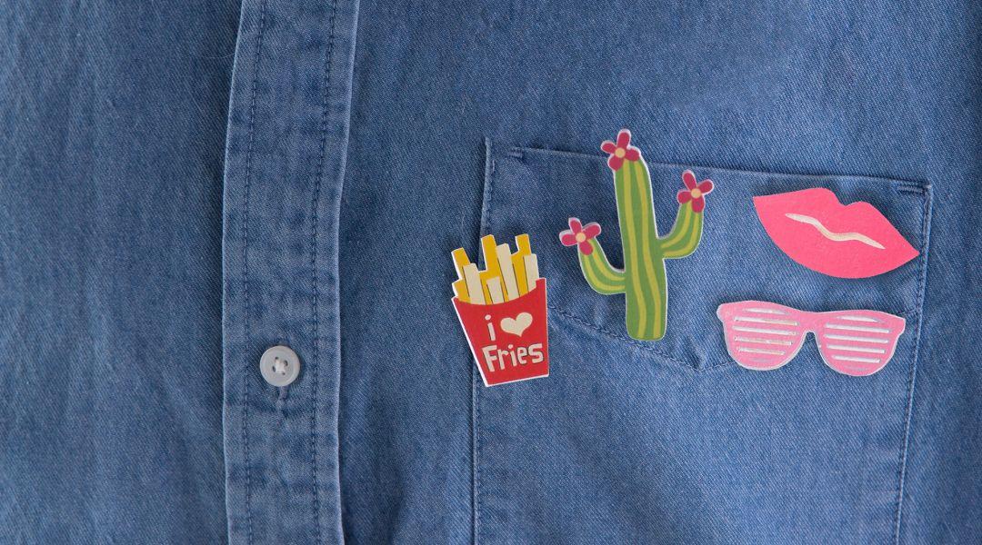 Cricut Crafts: Print-Then-Cut Flair Pins