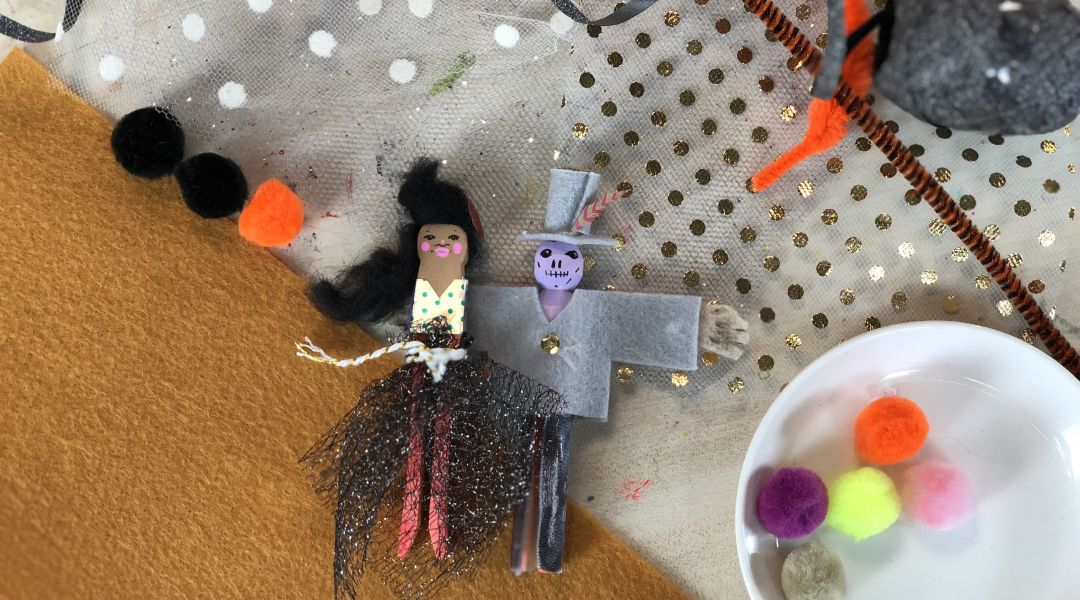Halloween Clothespin Dolls: 9/20/18