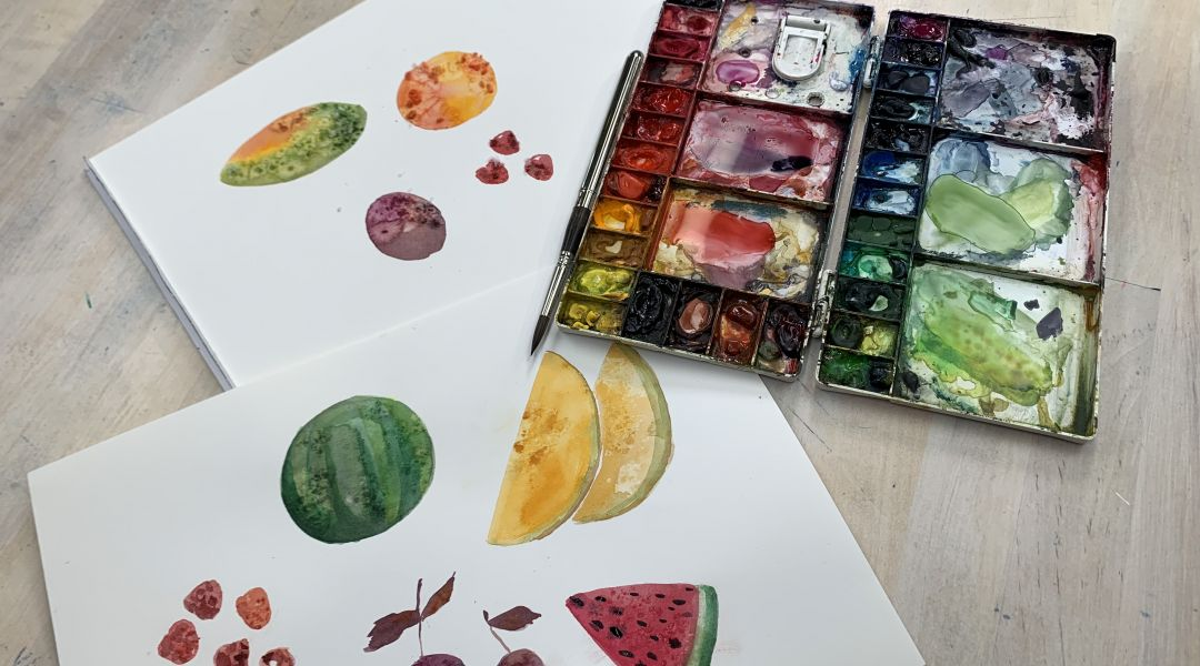 Watercolor effects using salt: 8/23/19