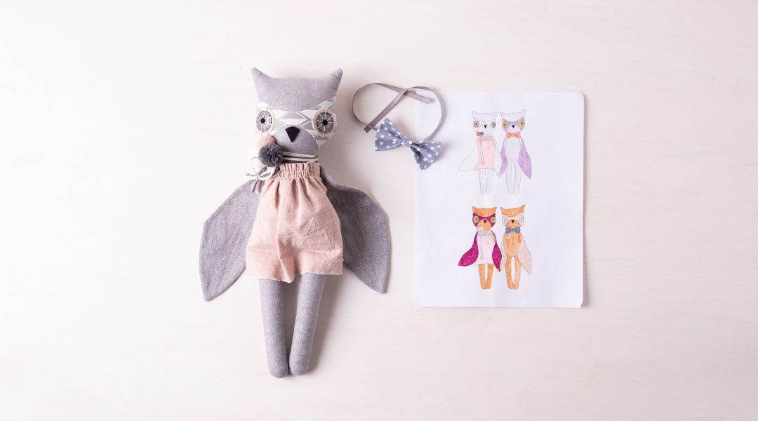 Sew a Luckyjuju Owl Doll