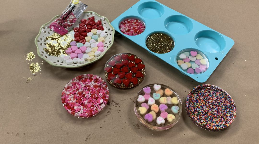 Valentine's Day Resin Coasters: 2/6/20