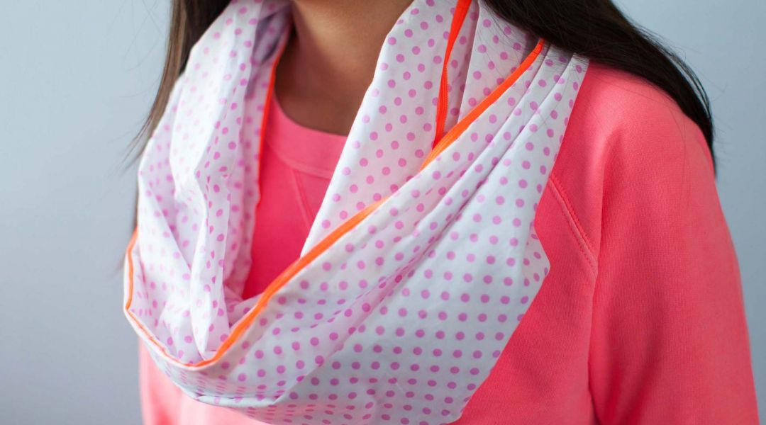 Kids Sewing: Infinity Scarf