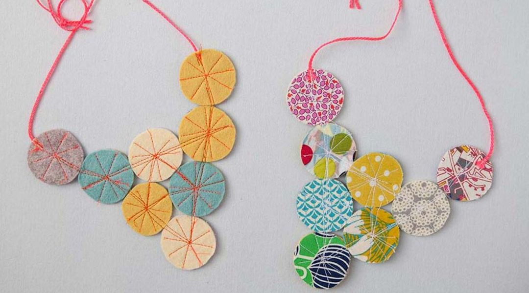 Fabric Circles Necklace