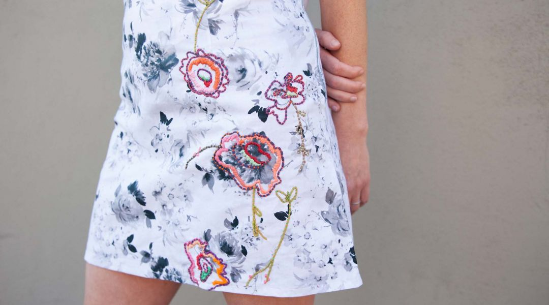 Embroidery Embellished Skirt