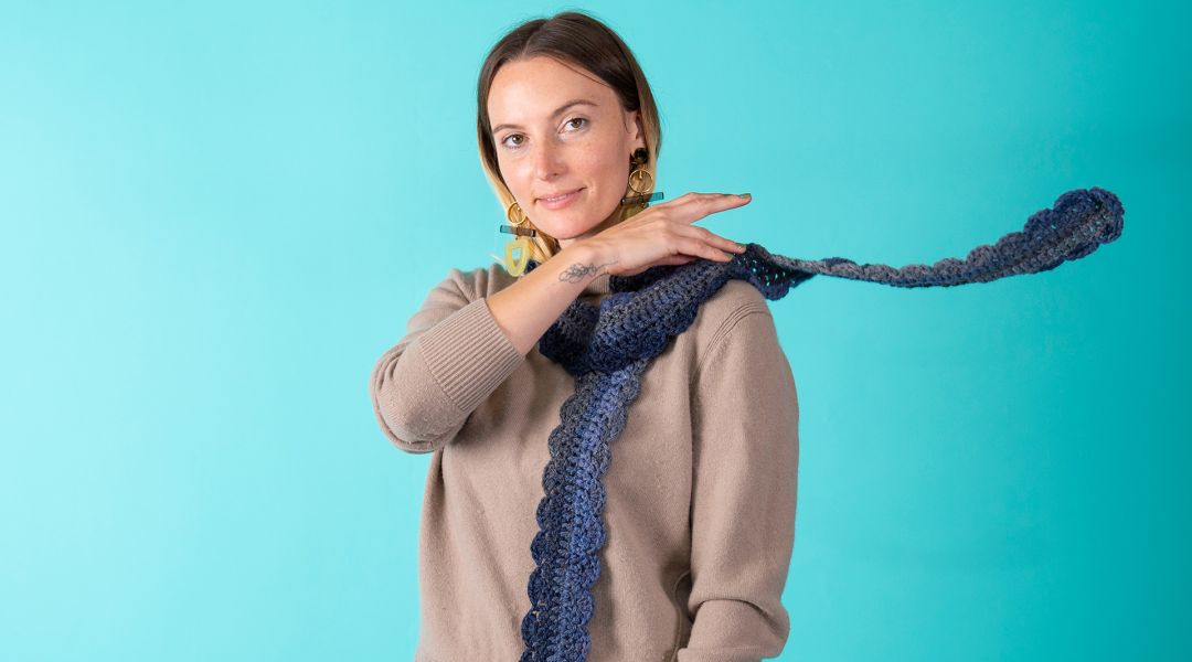 One Skein Crochet Scarf