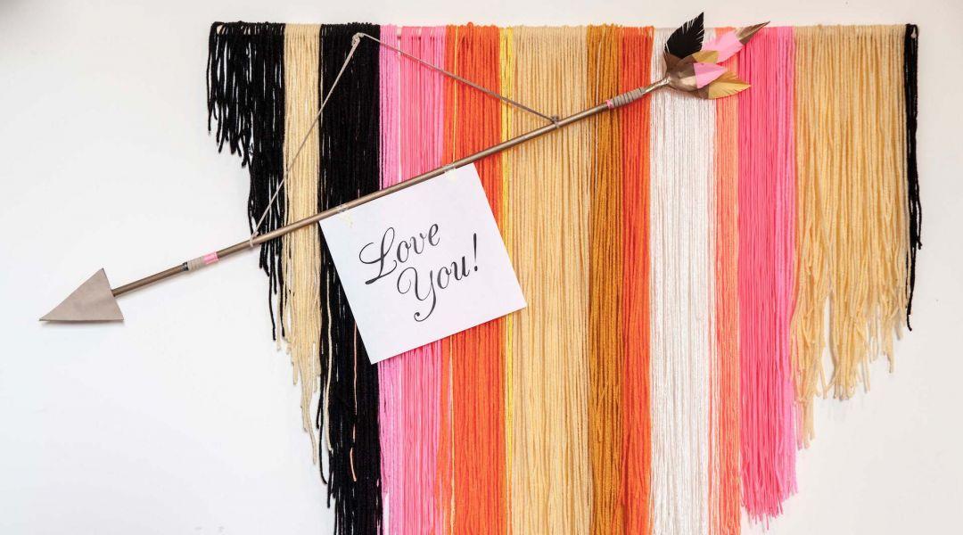 Valentine's Day Crafts: Wooden Arrow