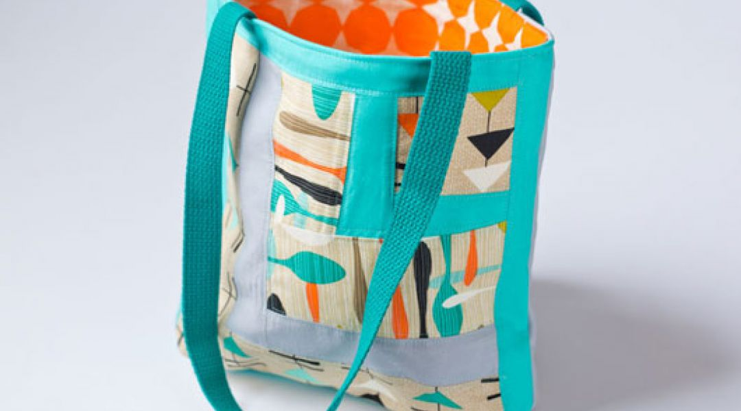 Log Cabin Quilting: Improvised Wonky Blocks and Sewing a Tote Bag