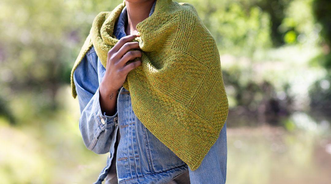 Knit a Log Cabin Shawl