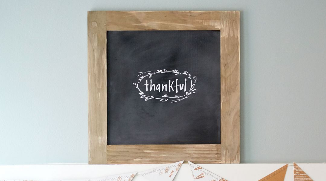 Distressed Wooden Chalkboard Sign