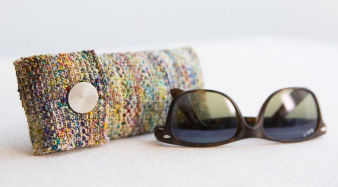Knit a Linen Stitch Glasses Case