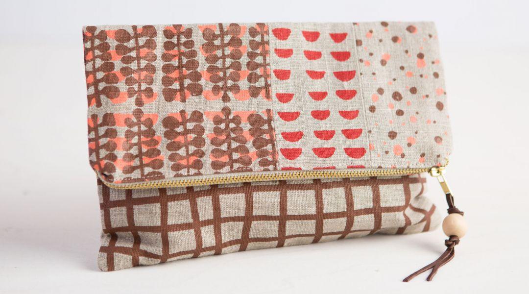 Screen Print Fabric and Sew a Clutch