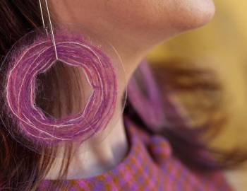 Yarn Scrap Earrings