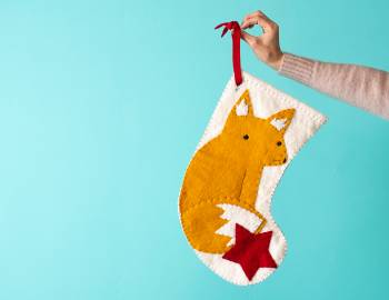 Felt Fox Stocking