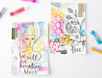 Art Journaling with Gelatos