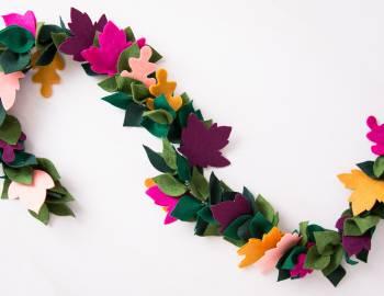 Cricut Crafts: Fall Leaf Garland