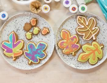 Iced Fall Cookies: 11/16/17