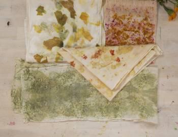 Eco Printing on Fabric: 12/11/18
