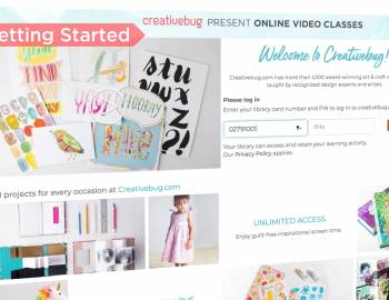 Creativebug Site Tour for Libraries