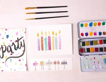 Simple Watercolor Cards: 5/16/19