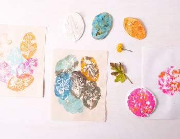 Model Magic Botanical Prints: 6/27/19