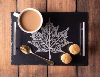 Glowforge Projects: Engraved Slate Tray