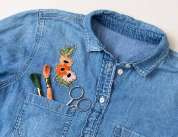 Make an Embroidered Floral Patch