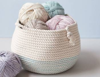 Stitched Rope Basket