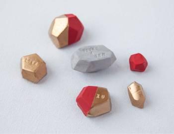 Valentine's Day Crafts: Gem Paperweights