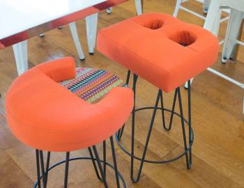 Upholster an Alphabet Stool