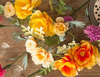 Paper Flowers: Make a Wild Rose and Thistle Centerpiece
