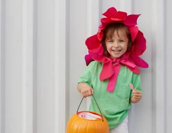 Last-Minute Halloween Costume: Felt Flower Headband