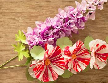 Paper Flowers: Make Hollyhocks and Delphiniums