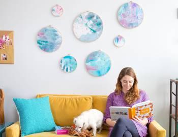 DIY Room Décor: Painted Fabric Wall Art