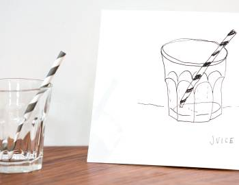 How to Draw a Juice Glass
