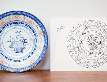 How to Draw a Decorative Plate
